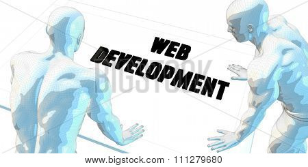 Web Development Discussion and Business Meeting Concept Art