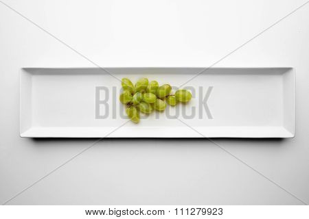 Bunch Of Green Muscat Grapes Isolated