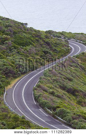Curves Of Great Ocean Road In Australia