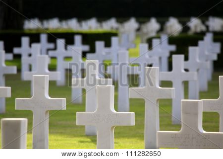 Nettuno - April 06: Tombs, American War Cemetery Of The American Military Cemetery Of Nettuno In Ita