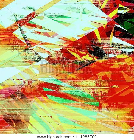 Abstract grunge textured background. With different color patterns: yellow (beige); red (orange); green; black; white
