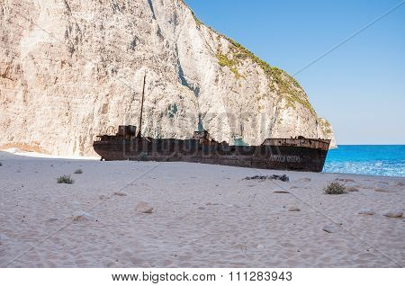 Famous Shipwreck On Navagio Beach
