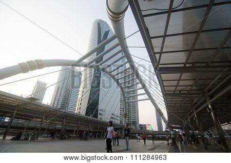 Public Sky-walk At Sky-train Station 'chong Nonsi'