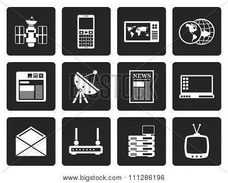 Black Communication and Business Icons