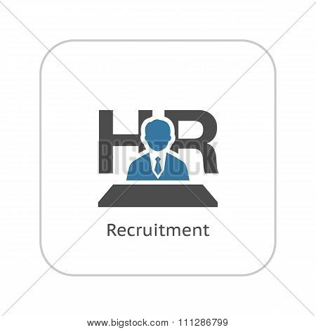 Recruitment Icon. Flat Design.