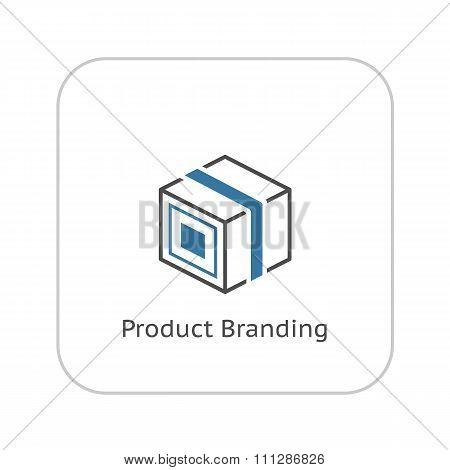 Product Branding Icon. Flat Design.