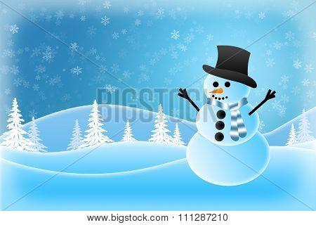 Snowman Wearing A Hat