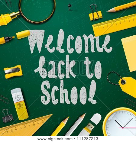 Welcome back to school background