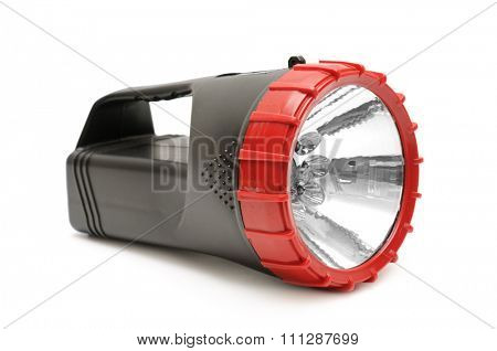 electric torch isolated on white background