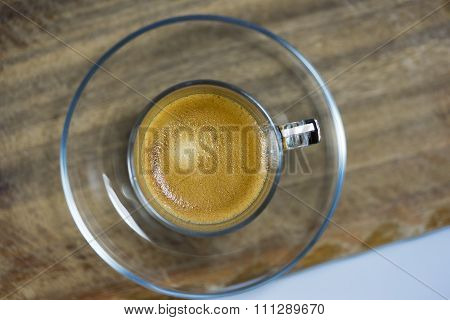 Cup Of Strong Frothy Espresso Coffee