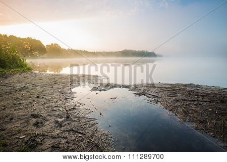 Morning Foggy Lake