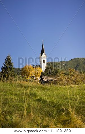 Picturesque Rural Church In Tirol