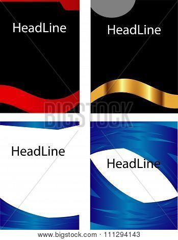 Book cover leaflet design