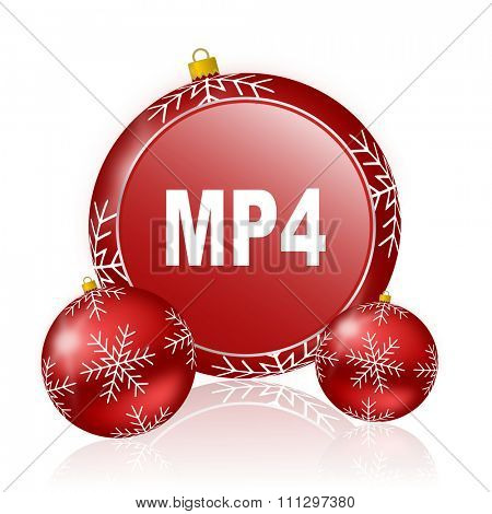 mp4 christmas icon