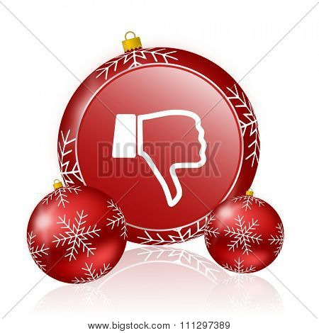 dislike christmas icon