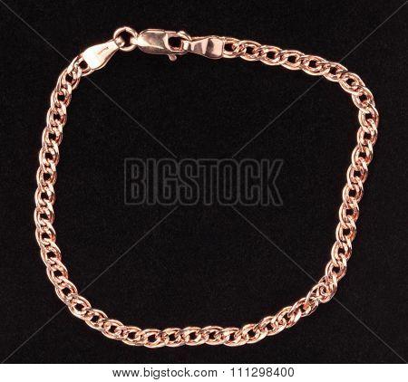 Red Gold Chain Bracelet