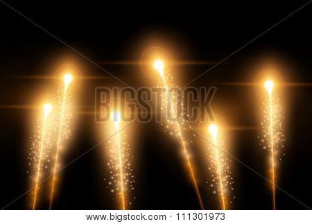 vector fireworks illustration