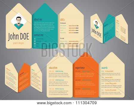 Flyer Design Cv Resume Template