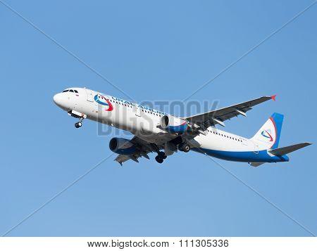 Big Airbus A321 Ural Airlines Flight