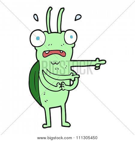 freehand drawn cartoon bug