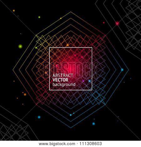 Light Geometry Background. Vector