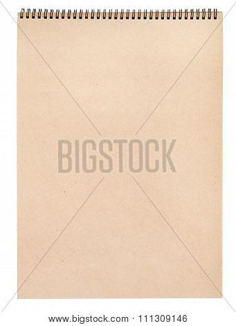 Blank Kraft Paper In Art Album For Graphic