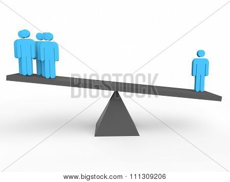 3d person is heavier on a seesaw