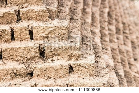 Corner Of Brick Block Of Limestone