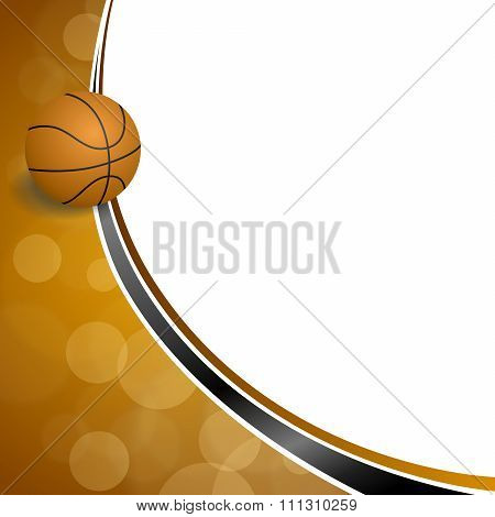Background abstract orange black sport basketball ball illustration vector