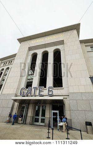 THE BRONX, UNITED STATES - JUNE 20, 2015: Yankee Stadium is the home ballpark for the New York Yankees of Major League Baseball and the home stadium for New York City FC of Major League Soccer.