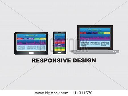 Responsive Website Design Conceptual Vector Illustration