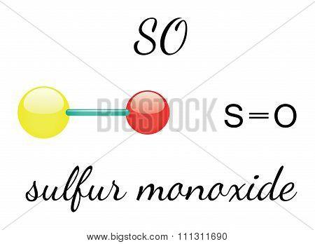 SO sulfur monoxide molecule