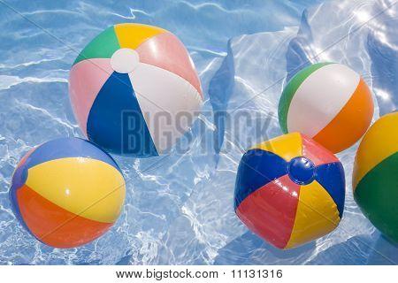Beachballs In zwembad