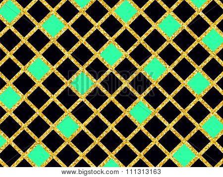 Golden Glitter Sparkles Background 5