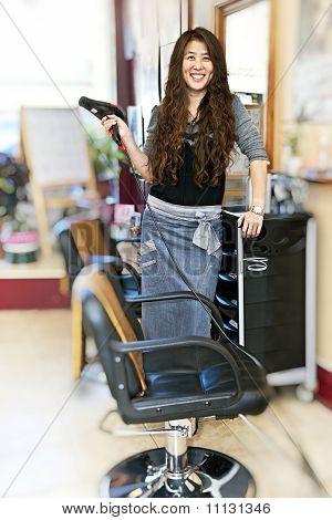 Hairstylist In Hair Salon