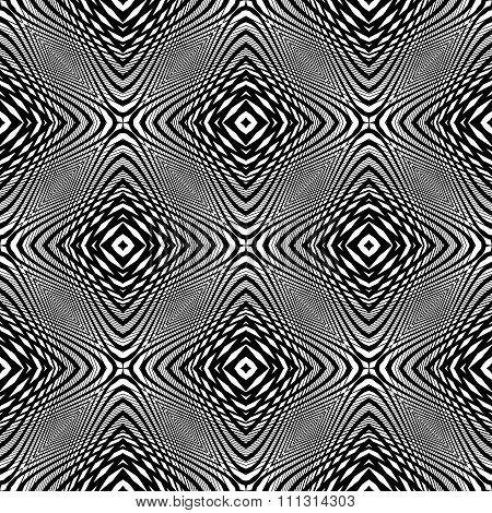 Design Monochrome Seamless Geometric Background