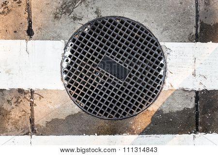 Round Sewer With Holes
