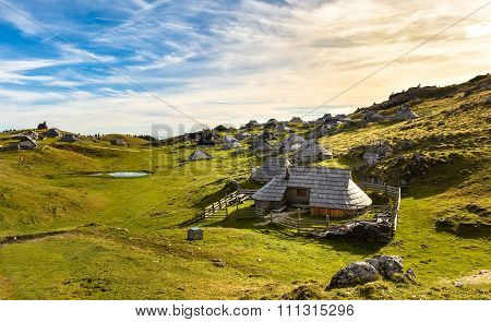 Mountain Cottage On Idyllic Hill Velika Planina