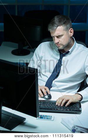 Alone In Office