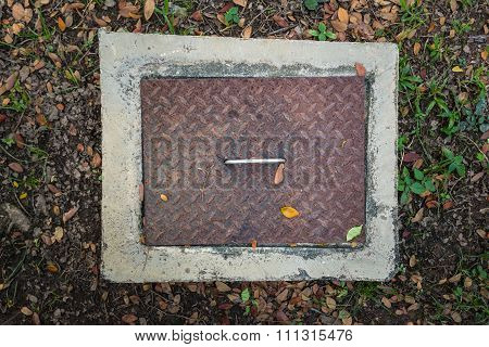 Rectangular Sewer With A Rust