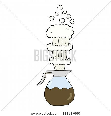 freehand drawn cartoon extra strong coffee jug