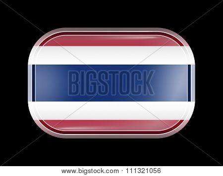Flag Of Thailand. Rectangular Shape With Rounded Corners