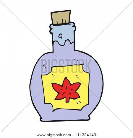 freehand drawn cartoon maple syrup