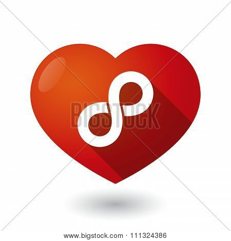 Isolated Red Heart With An Infinite Sign