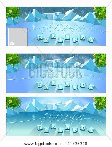 Background Happy Holidays Ice