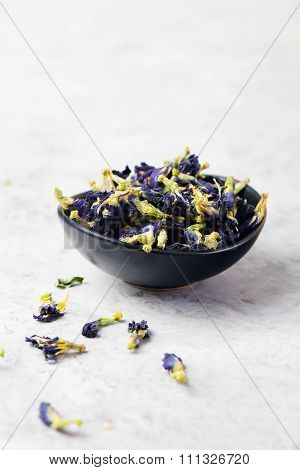Butterfly pea tea Anchan Stone background