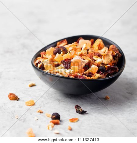 Dry fruit and spices tea: orange, lemon, apricot