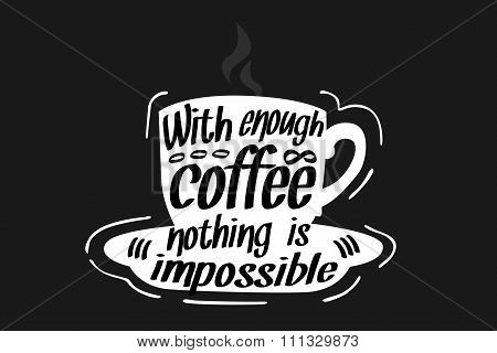 Coffee Quote illustration