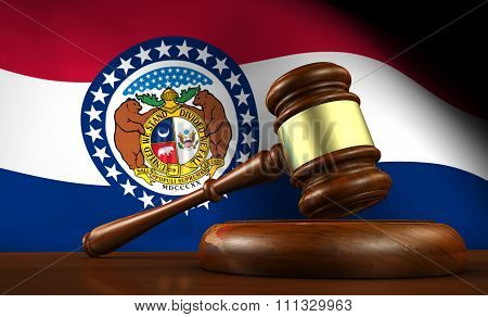 Missouri State Law Legal System Concept