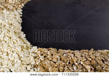 Mixed cereal background